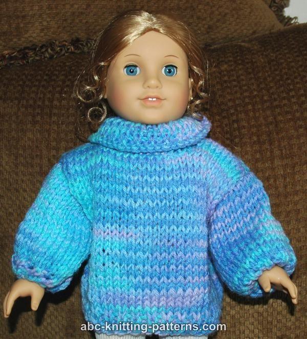 Barbie Basics Knitting Patterns : Abc knitting patterns american girl doll basic sweater