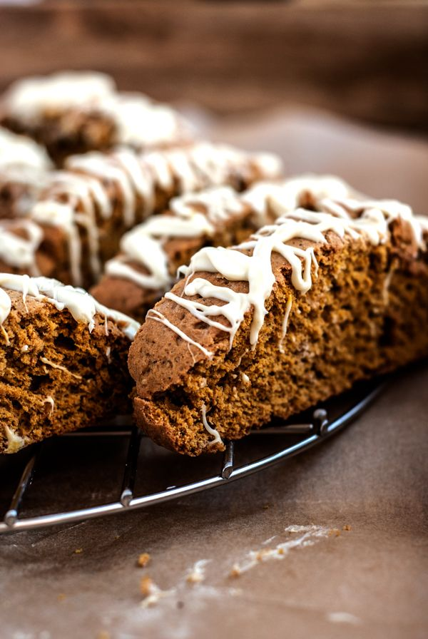 white chocolate pumpkin pie biscotti, breakfast, snack, cookie, fall ...