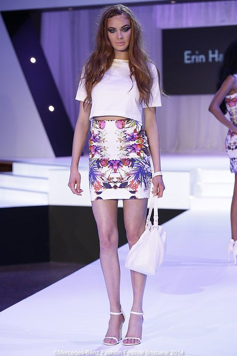 The Erin Hassall prints worked back with the season's best colour - white.