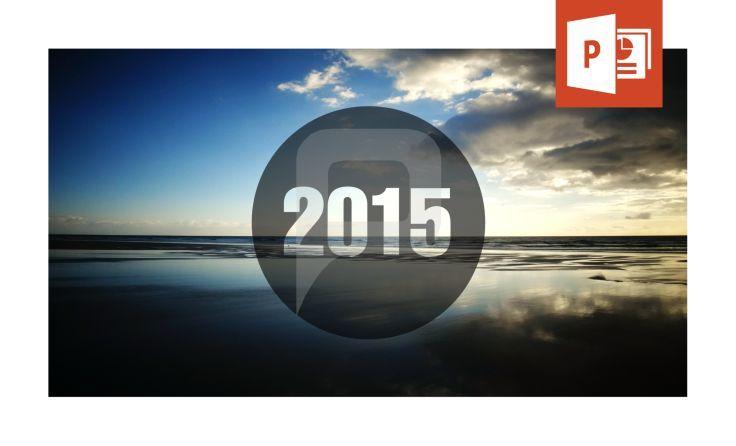 2015 PowerPoint-Vorlage mit Hintergrund-Bild und Grafik. www.presentationload.de/2015-kostenlose-powerpoint-vorlage.html