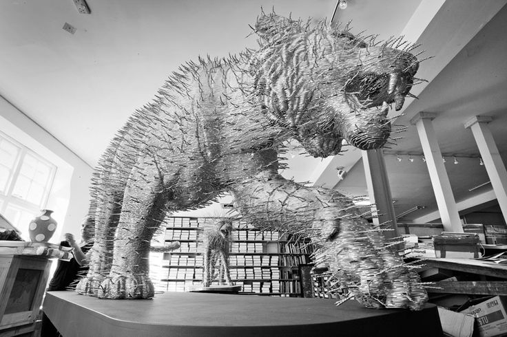tiger', 2012 made from coat hangers to be shown in geneva