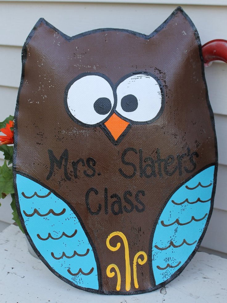 Owl Door Decoration. $28.00, via Etsy.