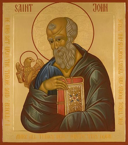 Saint John - Icons of the Four Evangelists