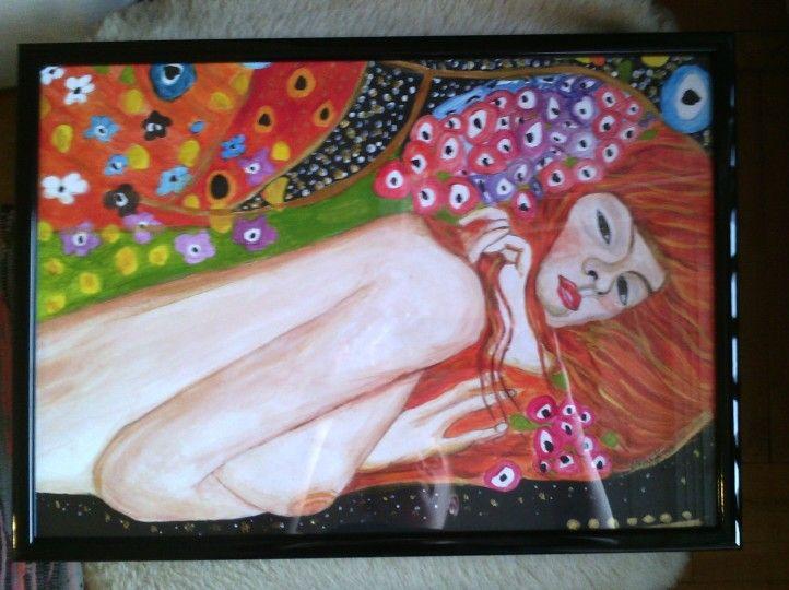 Klimt reproduction - A3, paper, acryl