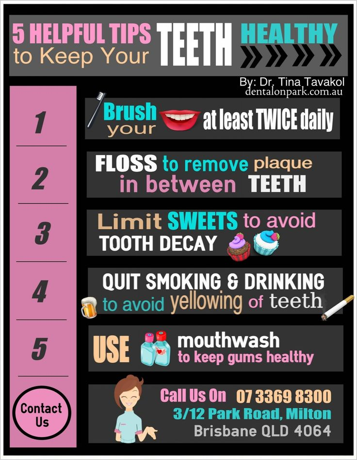 Dentist In Milton: 5 Helpful Tips To Keep Your Teeth Healthy Visit us on http://dentalonpark.com.au/