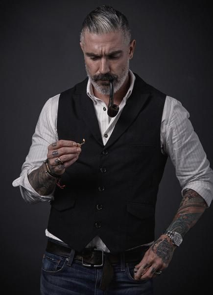 Lapel  Black Waistcoat.     There you are again, you perfectly groomed, beautiful man.