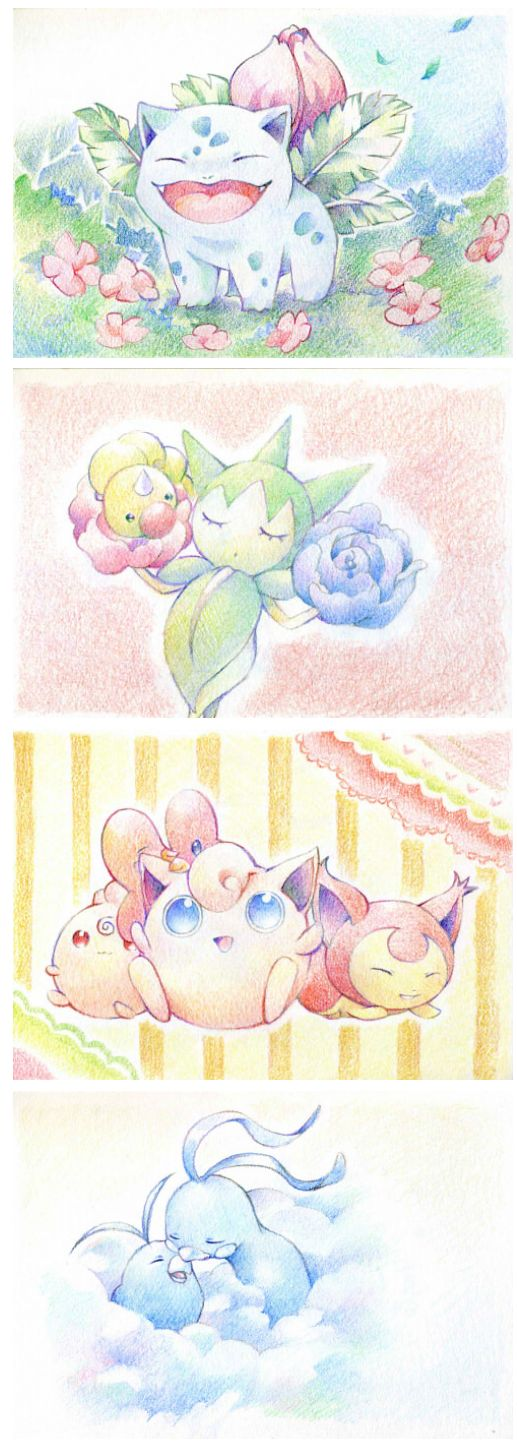 Pastel Watercolour Pokemon