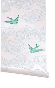 Daydream Wallpaper, White - contemporary - wallpaper - Hygge & West