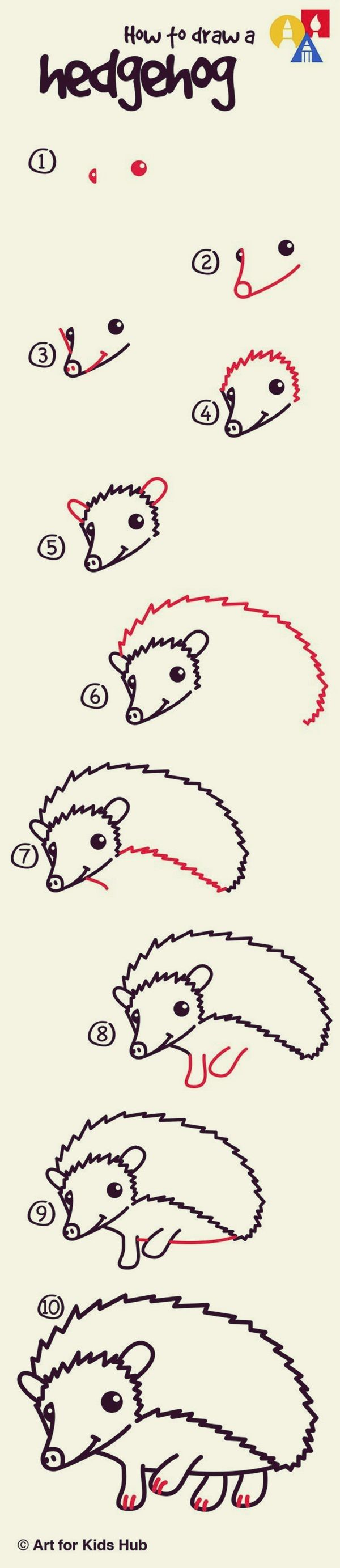 How to draw Cute Animals: 45 Examples