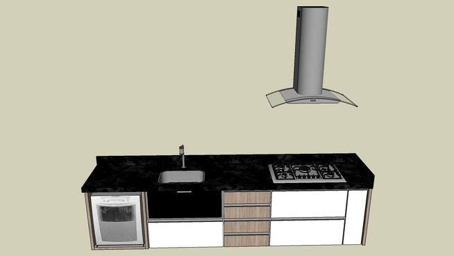 Bancada para cozinha completa - 3D Warehouse