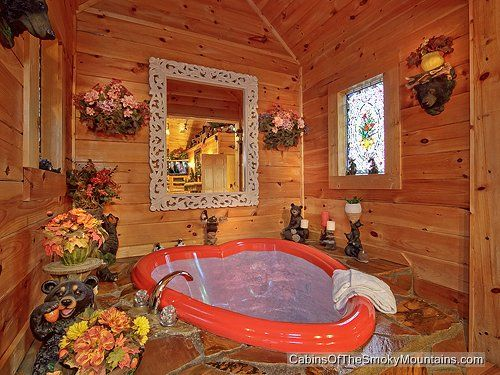 Gatlinburg Romantic Honeymoon Cabin With Heart Shaped