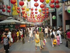 Pedestrian street, Guangzhou China