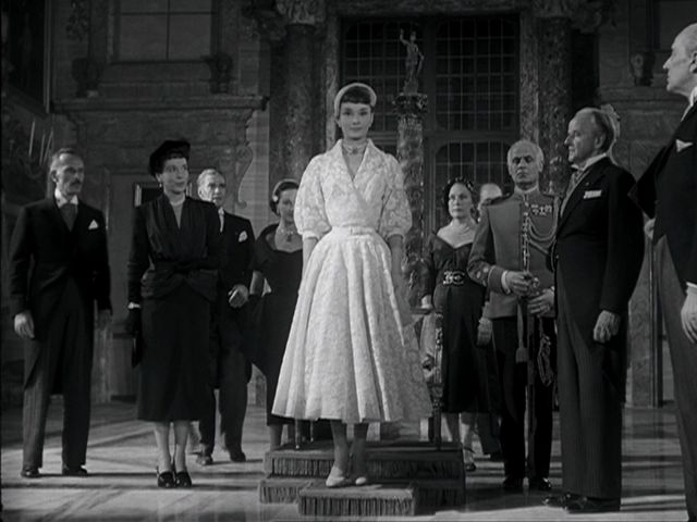 "Audrey Hepburn. Film still from ""Roman Holiday."":"