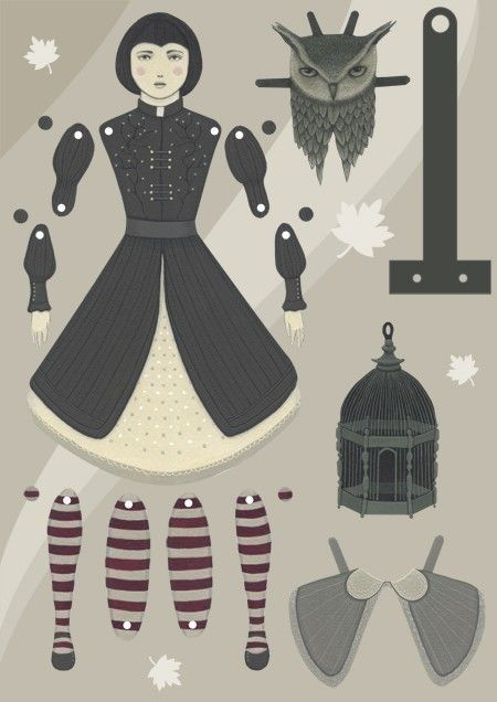 Child in the Forest, a DIY paper art doll by Little Robot