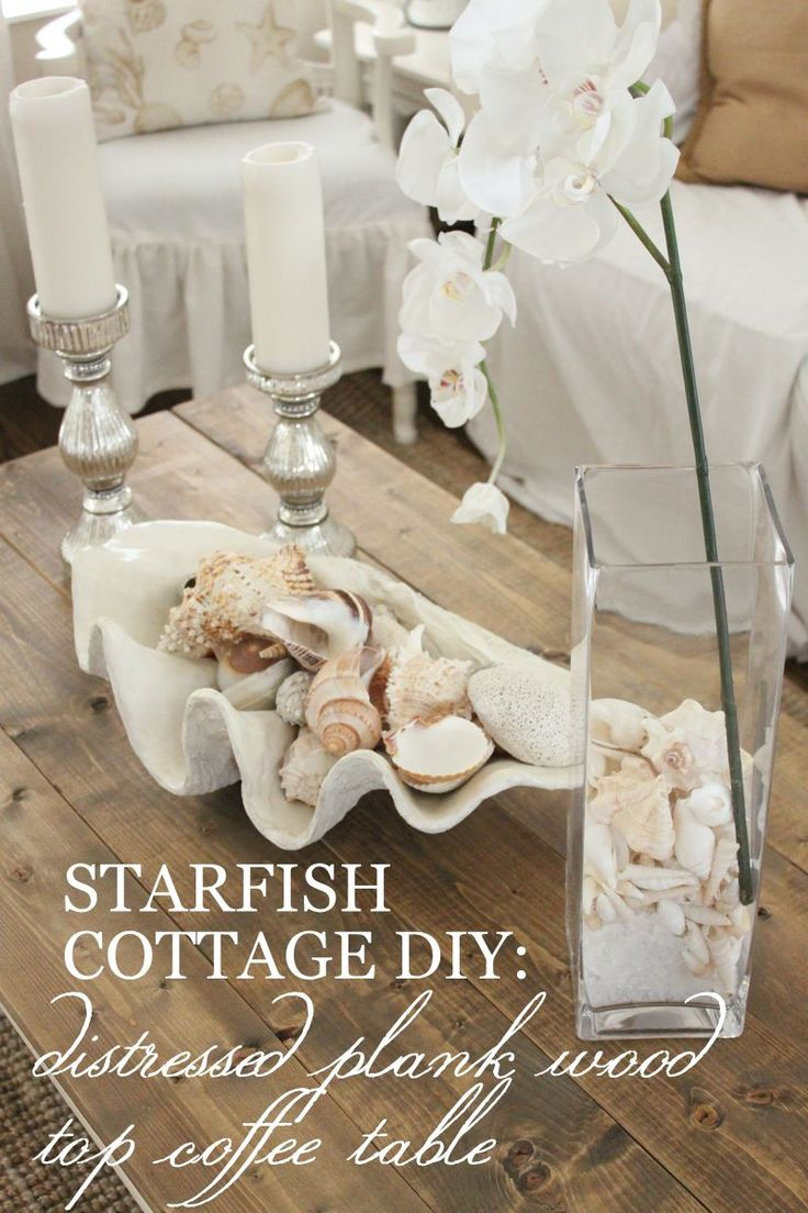 38 best ocean themed furniture images on pinterest home beach stop by starfish cottage today for an awesome distressed plank wood top coffee table diy