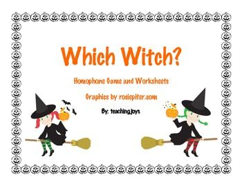 Homophones Which Witch Game And Printables Reading