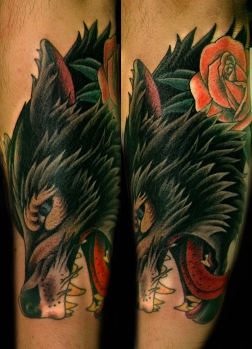 1000 images about ink wolf head tattoo on pinterest for Wolf tattoo traditional