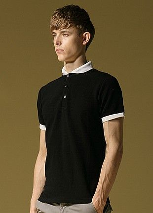 Allin Menswear Polo Shirt-Black