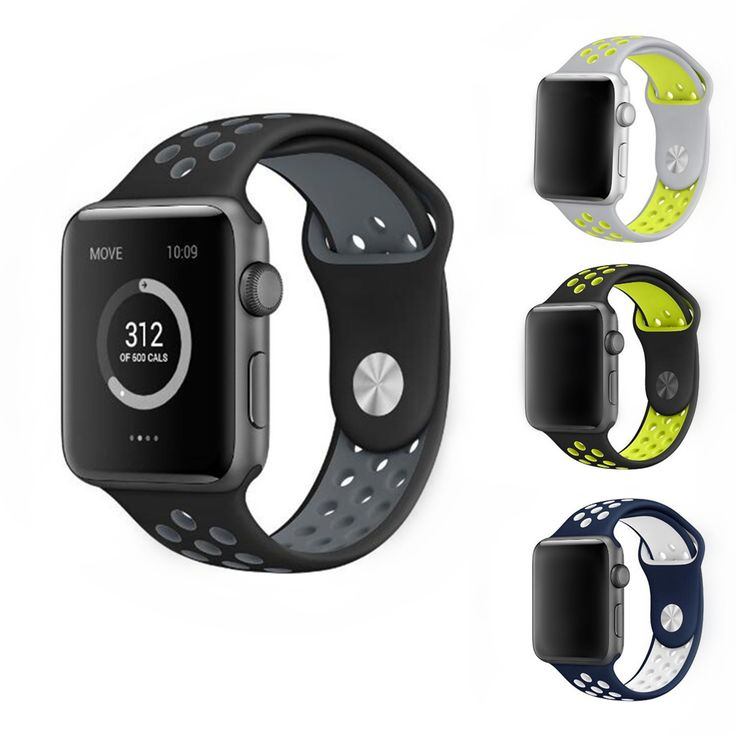 Official colors sport Silicone watchband for iwatch Series1 2 NIKE apple watch band 42mm 38mm wrist strap bracelet With Adapter