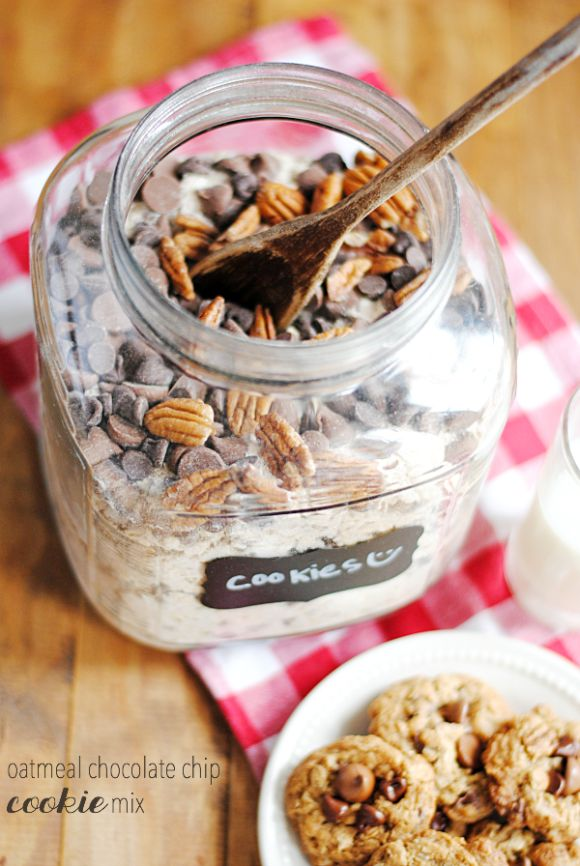 Homemade Oatmeal Chocolate Chip Cookie Mix | www.somethingswanky.com