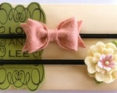 cute: Felt Flower Headbands, Baby Headbands, Newborn Headbands, Pink Bows, Baby Girls, Newborns Headbands, Felt Bows, Felt Headband, Felt Flowers Headbands
