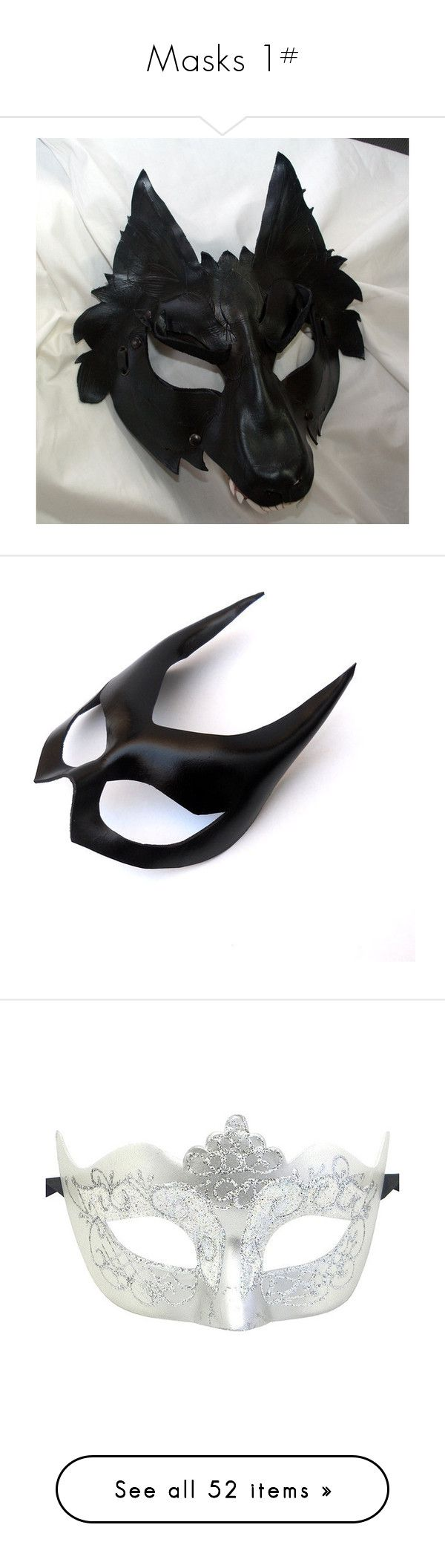"""""""Masks 1#"""" by randeemalloy ❤ liked on Polyvore featuring masks, accessories, costumes, costume, superhero cosplay costumes, catwoman halloween costume, sexy catwoman costume, masquerade costume, sexy halloween costumes and masquerade"""