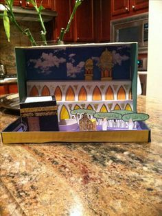 Make a pizza box or shoe box diorama for Eid AlAdha or ramadan. Great recycle craft!