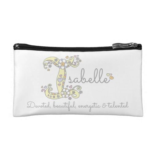 Isabelle custom decorative name meaning bag © designed by Sarah Trett for www.mylittleeden.com #isabelle #custombag #uniquegift