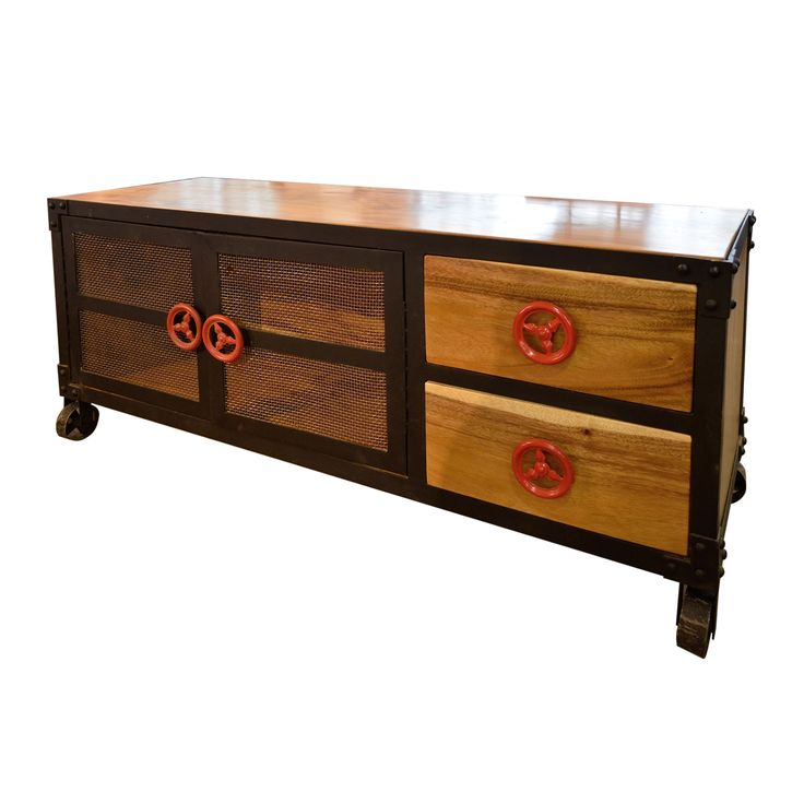TV Console E - Metal. Industrial inspired TV Console.