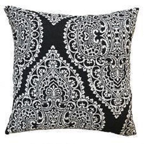 Majestic Black Cushion Cover – Linen and Bedding