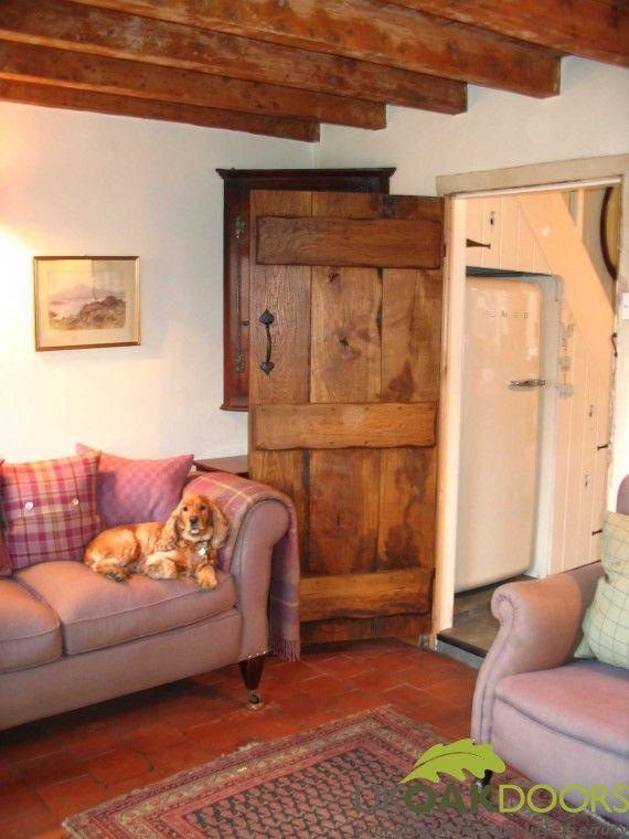 Antique Reproduction Oak Door. old cottage door.