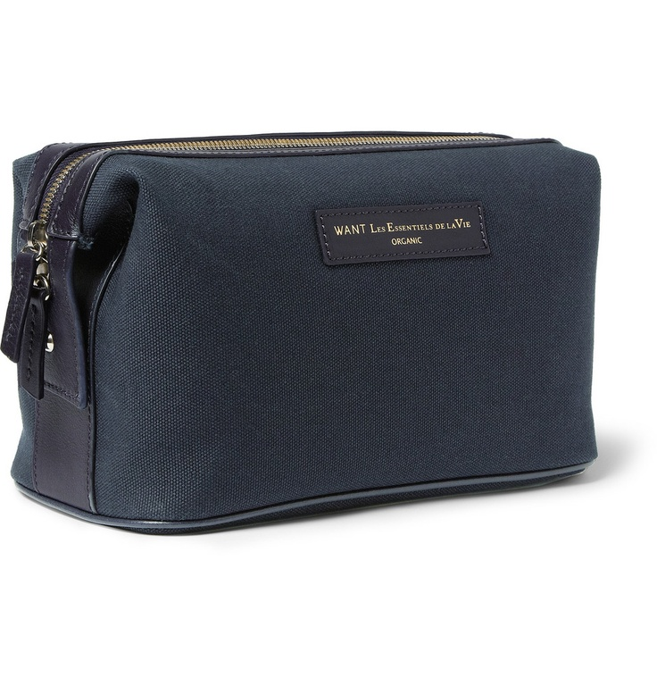 WANT Les Essentiels de la Vie Kenyatta Cotton-Canvas Wash Bag | MR PORTER