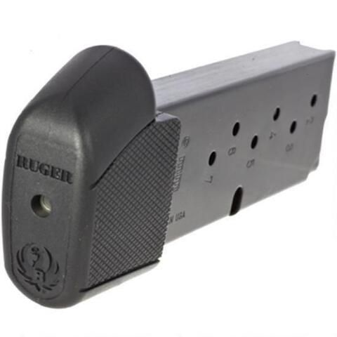 Ruger LC9/LC9S Magazine 9mm Luger 9 Rounds Steel Body Increased Capacity/Grip Extension Polymer Base Plate Black Finish 90404 - 736676904044