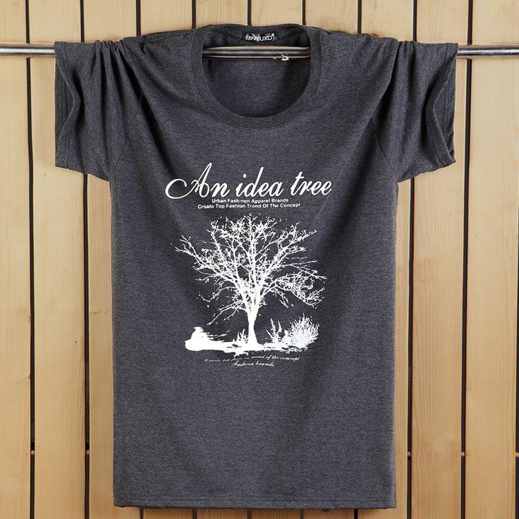 Short Sleeve long stapled cotton t shirt men 2016 Famous Brand Design summer mens t shirts fashion brand t shirt Plus Size S-5XL