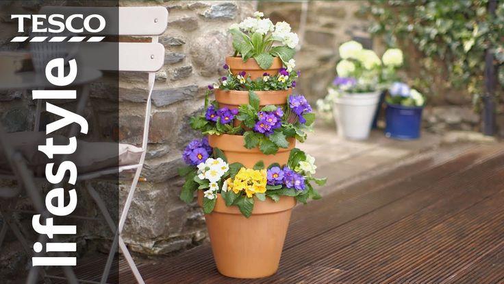 best 25 stacked pots ideas on pinterest stacked flower. Black Bedroom Furniture Sets. Home Design Ideas