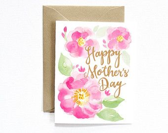 Happy Mother's Day Card Mother's day card with by MospensStudio