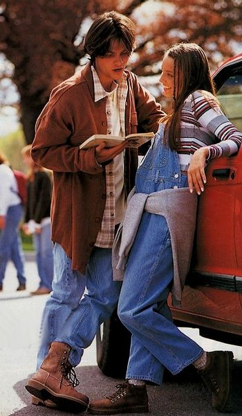 Overalls and Striped Tops; #90s Fashion ~ And I must admit I owned a similar outfit... // #childhood #nostalgia