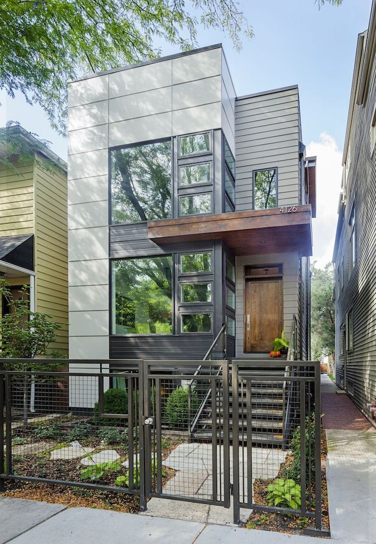 Chicago Net Positive Two-Story Green Home with Modern Facade