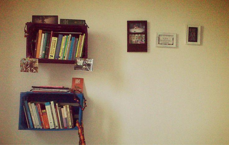 Rejas de madera como librero for the home pinterest - Rejas de madera ...