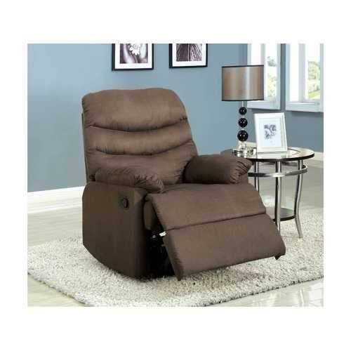 Plesant Valley Transitional Recliner Chair With Microfiber, Light Brown
