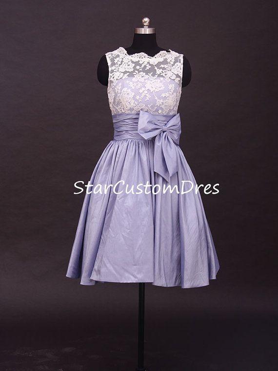 Blue Short Bridesmaid Dress Short party dress by StarCustomDress, $99.00