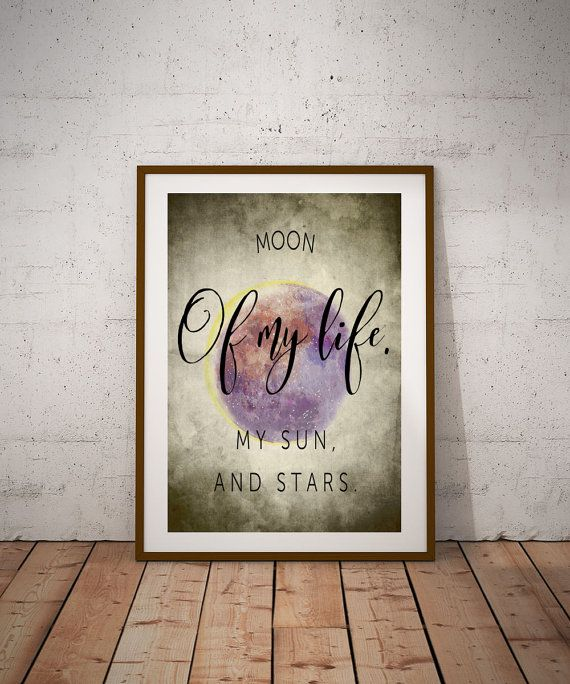 George RR Martin Game of Thrones Daenerys Sun and Stars Quote wall art A4 (12x8) Wedding Gift, Housewarming, Quote, Print Various Colours