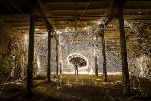 Cool steel wool photo indoor an old building!