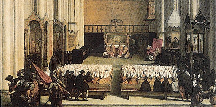 The council of Trent was a meeting of the ecclesiasiastical authorities of the Roman Catholic church that took place during the mid 16th century.
