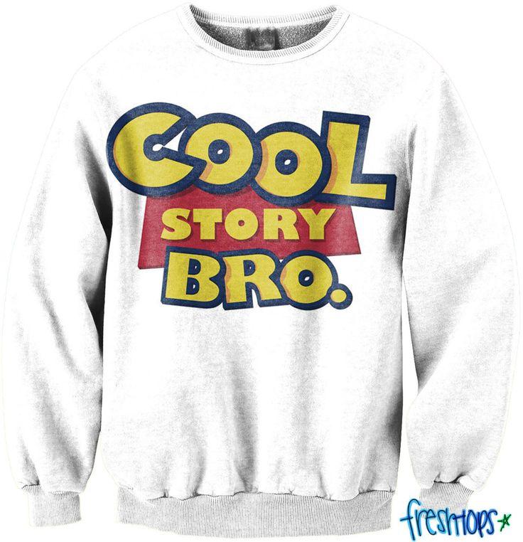 Cool Story Bro CrewNeck Sweatshirt | Toy Story Sweatshirt