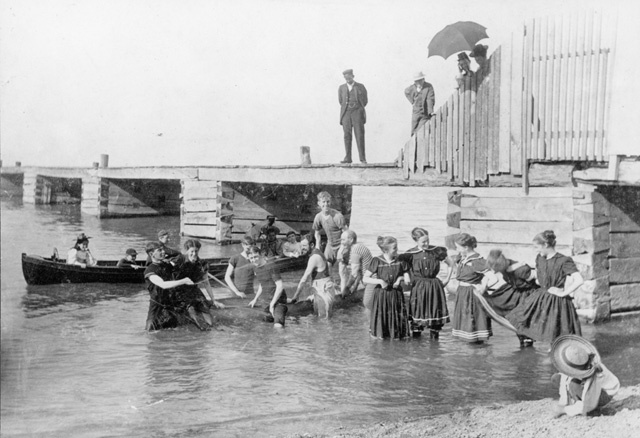 Grimsby Park - Beach circa 1890