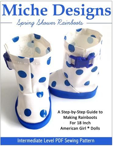 Spring Shower Rain Boots 18 inch Doll Shoes PDF Pattern Download | Pixie  Faire