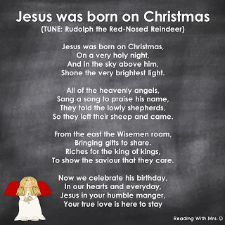 Kids Christian Religious Christmas Song for Sunday School. Written by Desiree Trott @Reading With Mrs.D