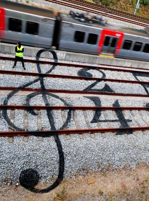 Railtrack art by Artur Bordalo http://restreet.altervista.org/artur-bordalo-usa-i-binari-della-ferrovia-come-tela/