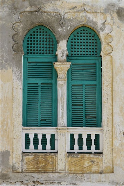 Window Of An Old Ottoman House, Massawa, Eritrea by Eric Lafforgue, via Flickr